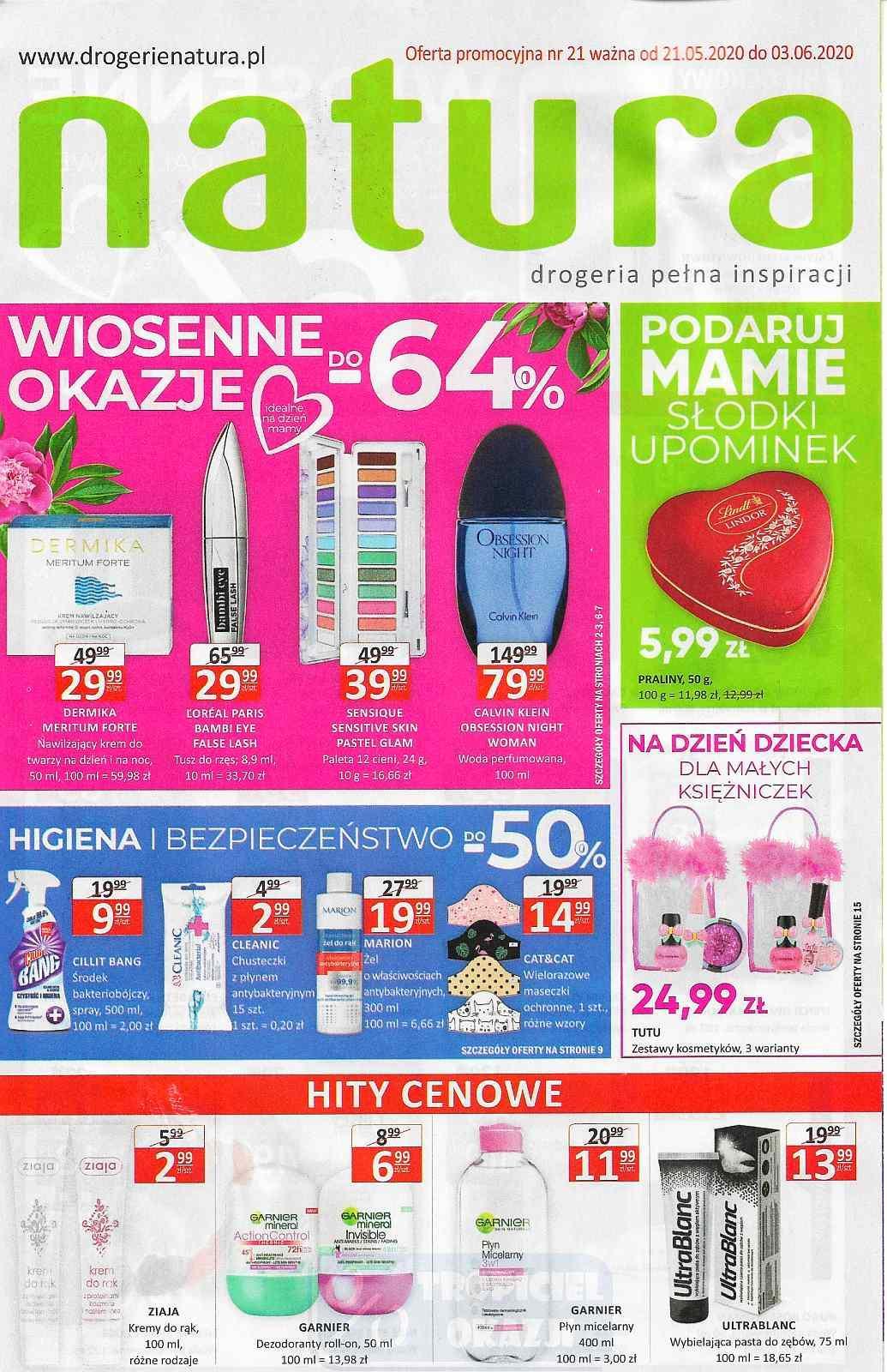 Gazetka promocyjna Drogerie Natura do 03/06/2020 str.1