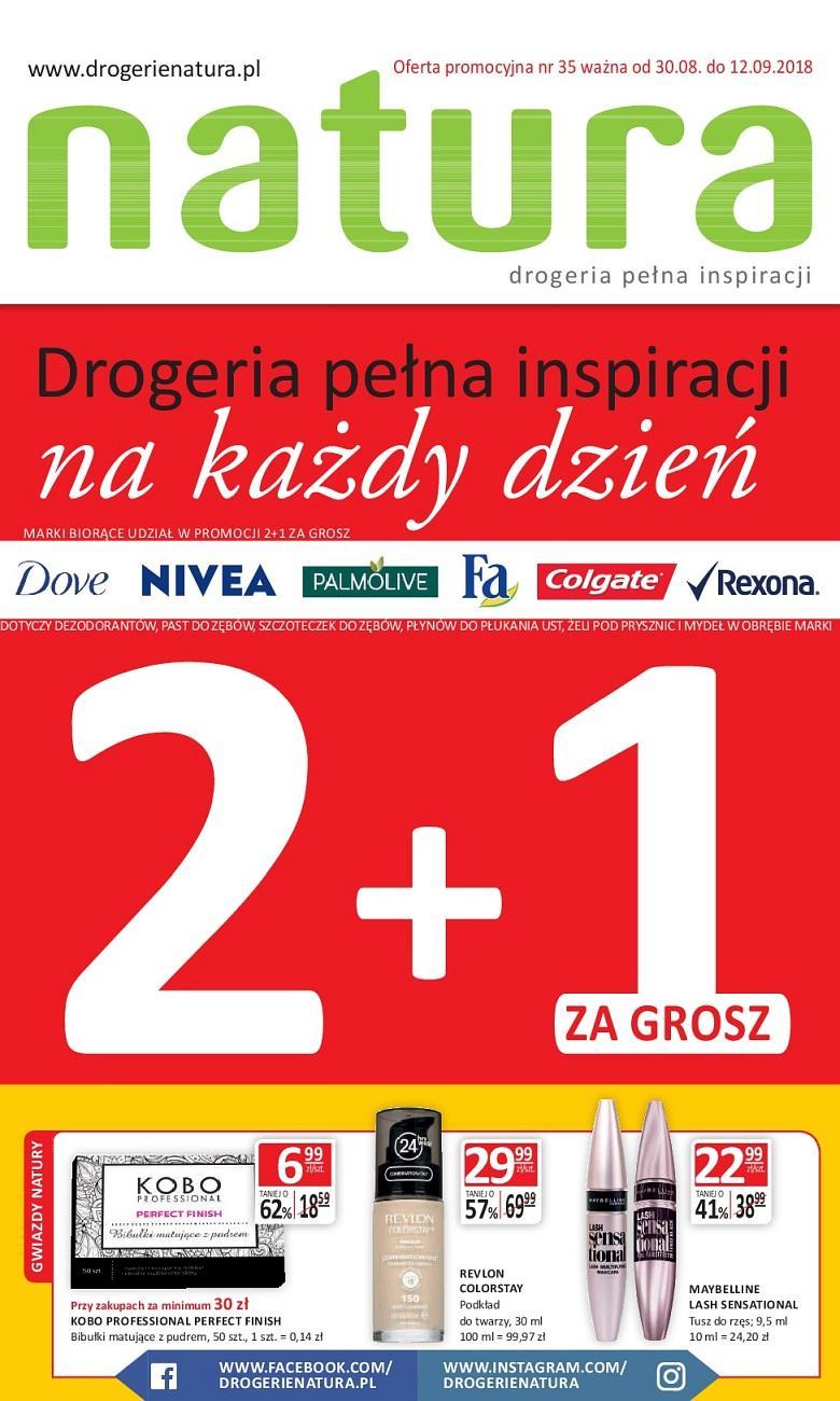Gazetka promocyjna Drogerie Natura do 12/09/2018 str.0