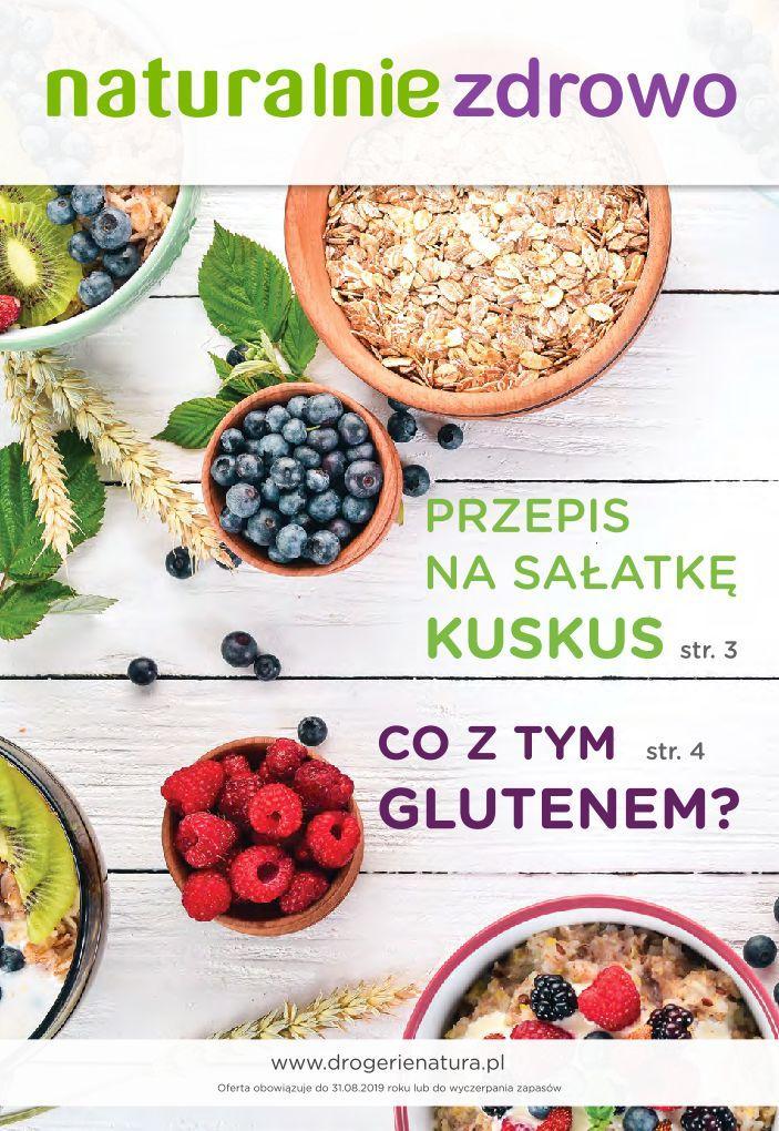 Gazetka promocyjna Drogerie Natura do 31/08/2019 str.1