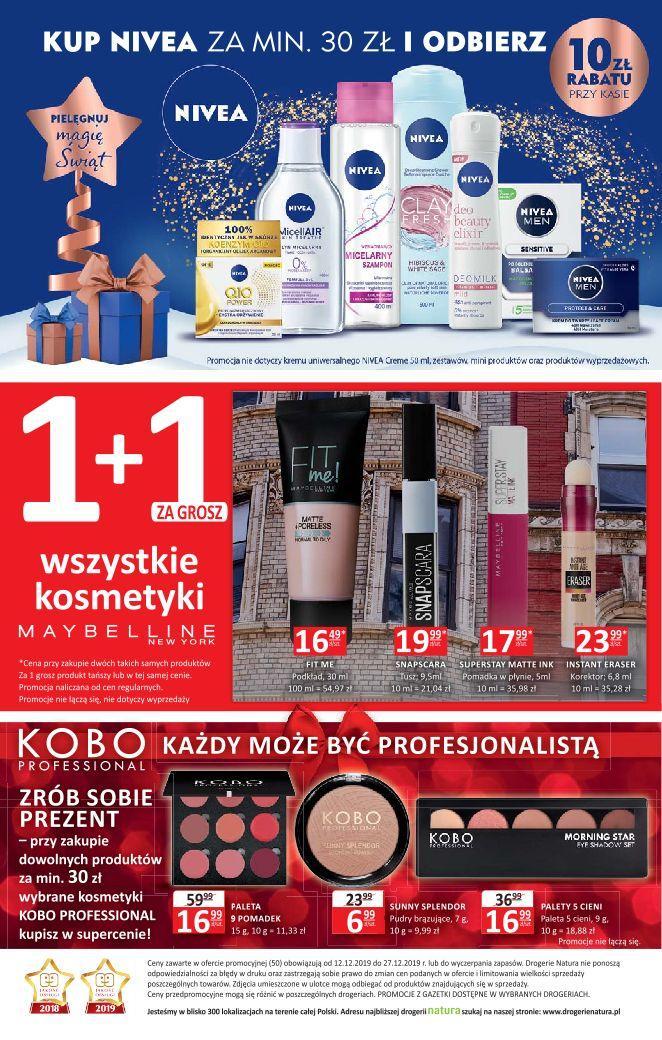 Gazetka promocyjna Drogerie Natura do 27/12/2019 str.19