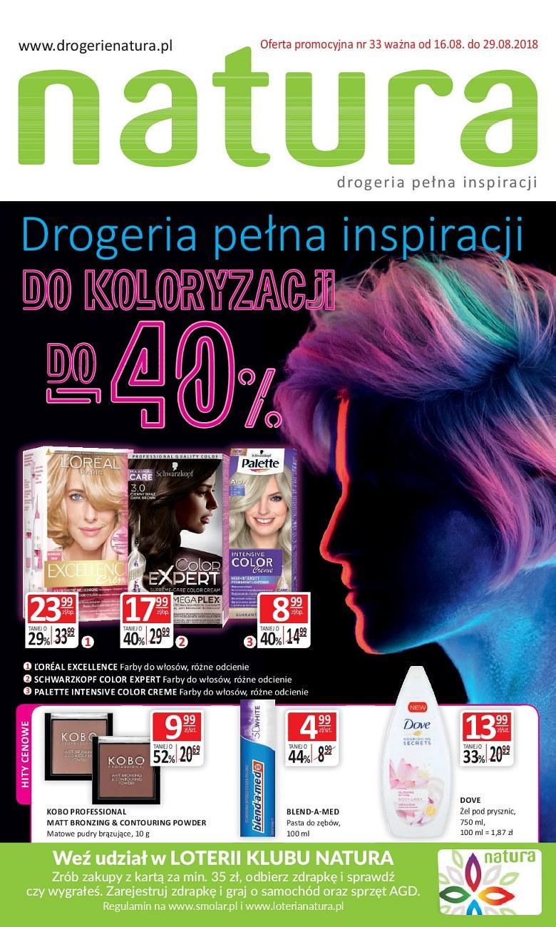 Gazetka promocyjna Drogerie Natura do 29/08/2018 str.1
