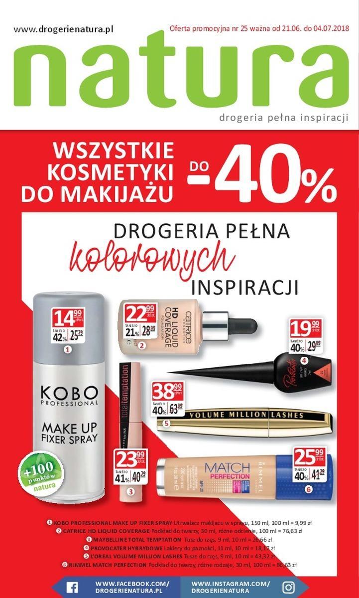 Gazetka promocyjna Drogerie Natura do 04/07/2018 str.0