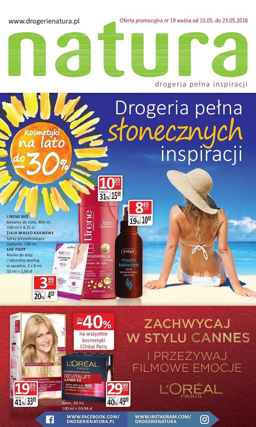 Gazetka promocyjna Drogerie Natura do 23/05/2018 str.0
