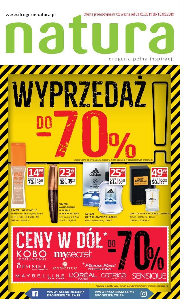 Gazetka promocyjna Drogerie Natura do 30/01/2019 str.0
