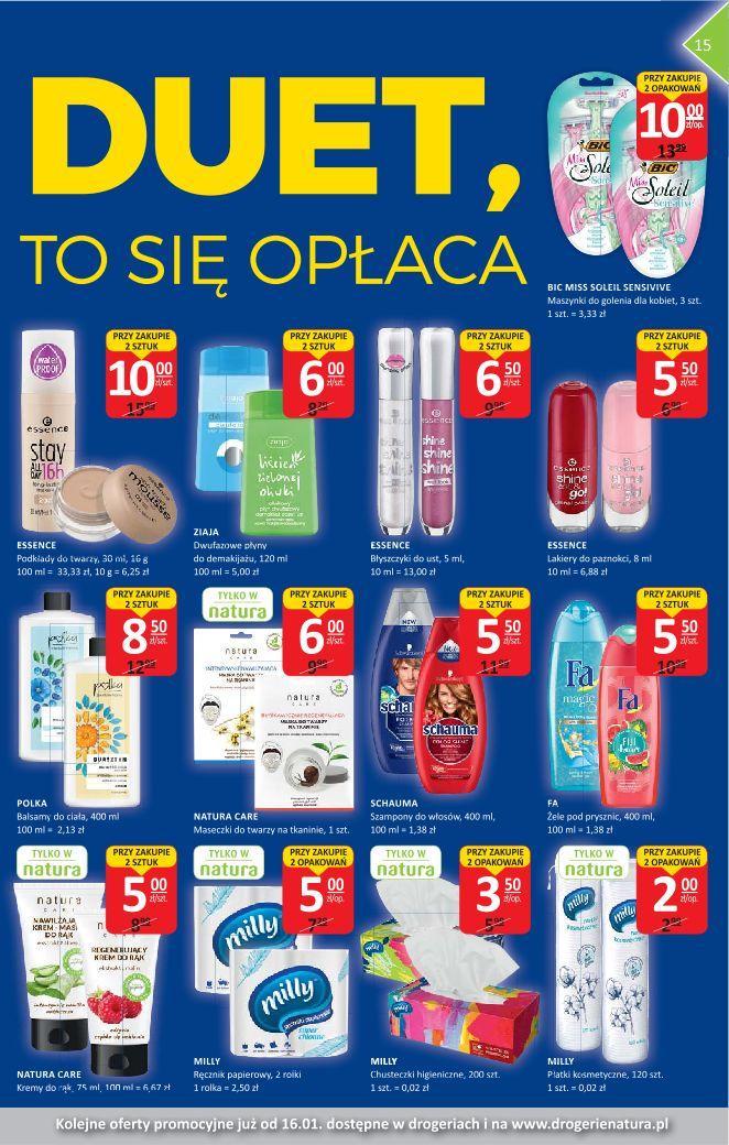Gazetka promocyjna Drogerie Natura do 15/01/2020 str.15