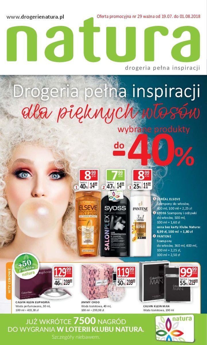 Gazetka promocyjna Drogerie Natura do 01/08/2018 str.0