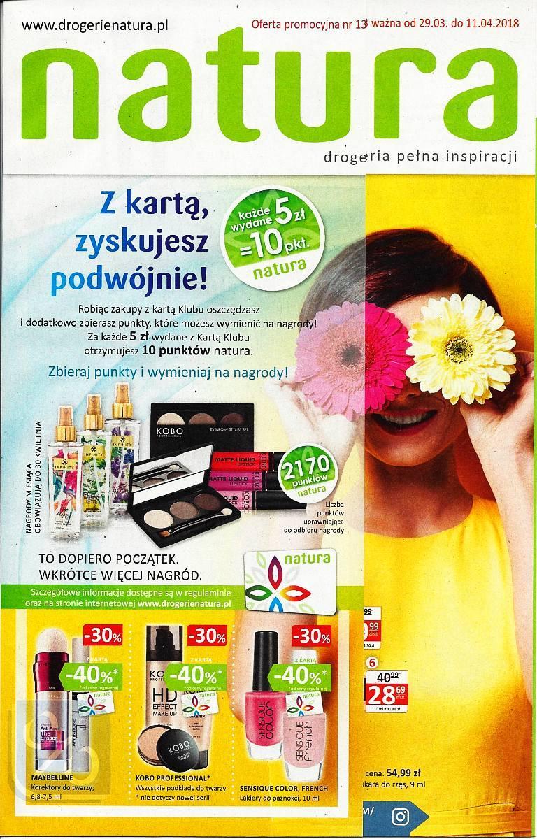 Gazetka promocyjna Drogerie Natura do 11/04/2018 str.0