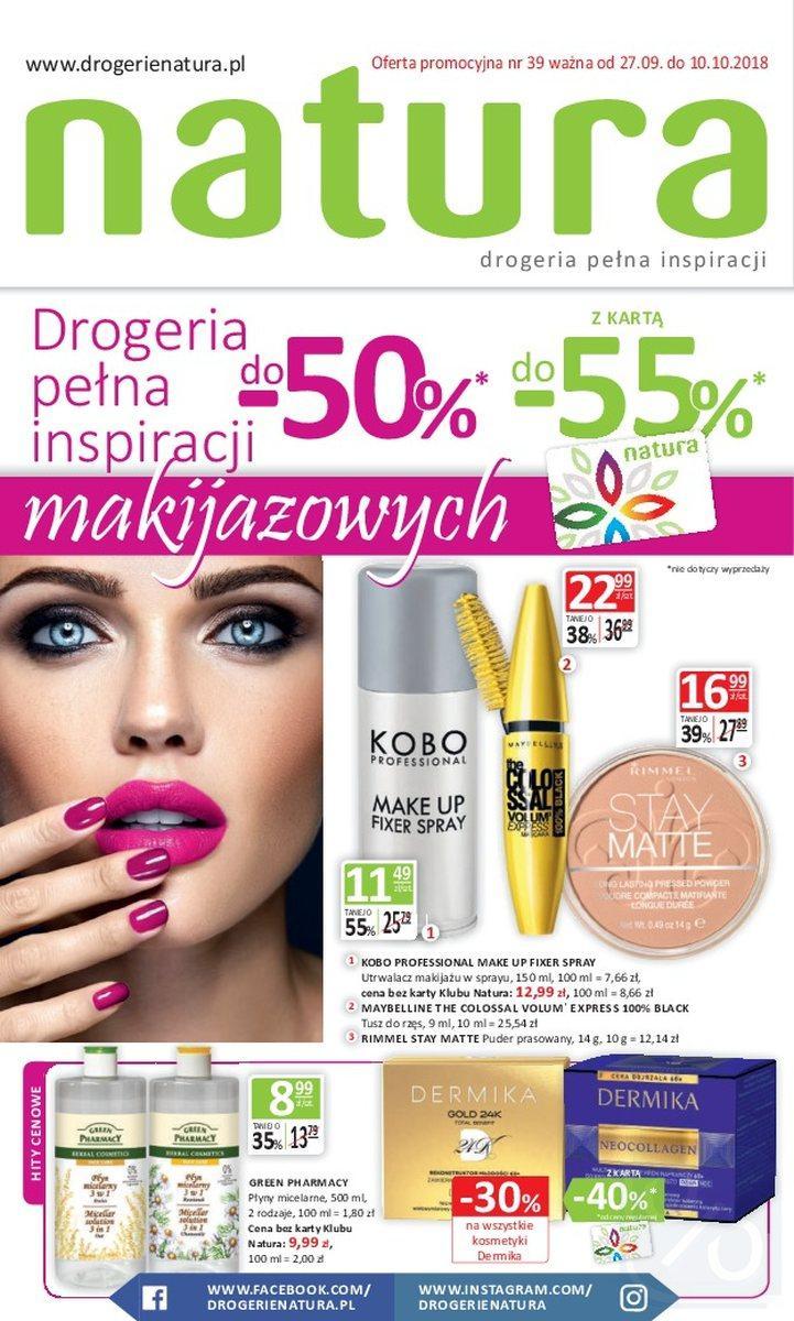 Gazetka promocyjna Drogerie Natura do 10/10/2018 str.0