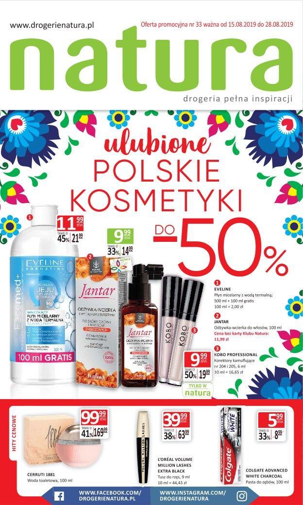 Gazetka promocyjna Drogerie Natura do 28/08/2019 str.1
