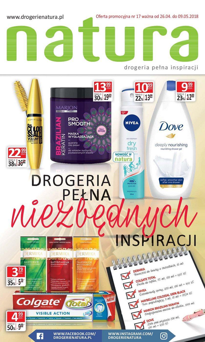 Gazetka promocyjna Drogerie Natura do 09/05/2018 str.0