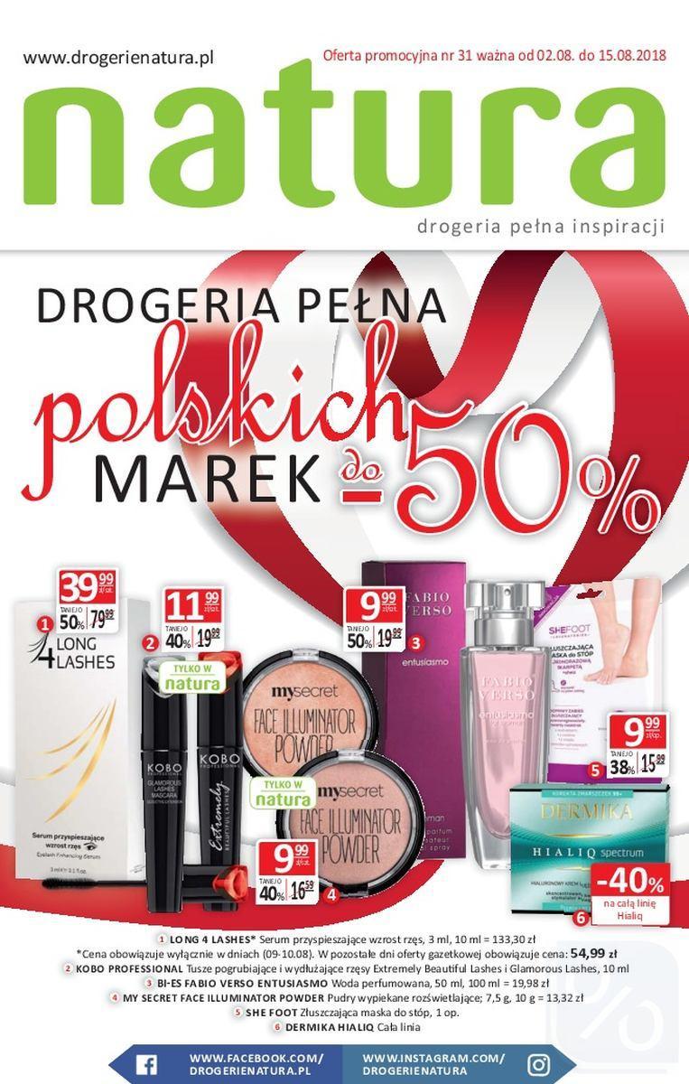 Gazetka promocyjna Drogerie Natura do 15/08/2018 str.0