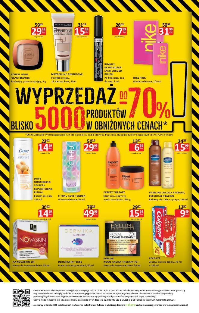 Gazetka promocyjna Drogerie Natura do 02/01/2019 str.7