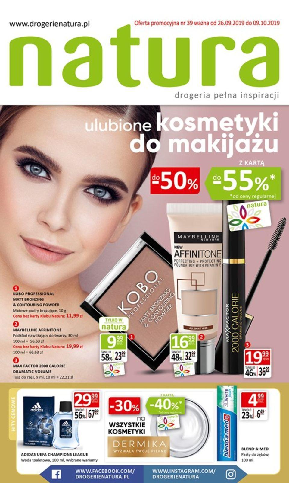 Gazetka promocyjna Drogerie Natura do 09/10/2019 str.0
