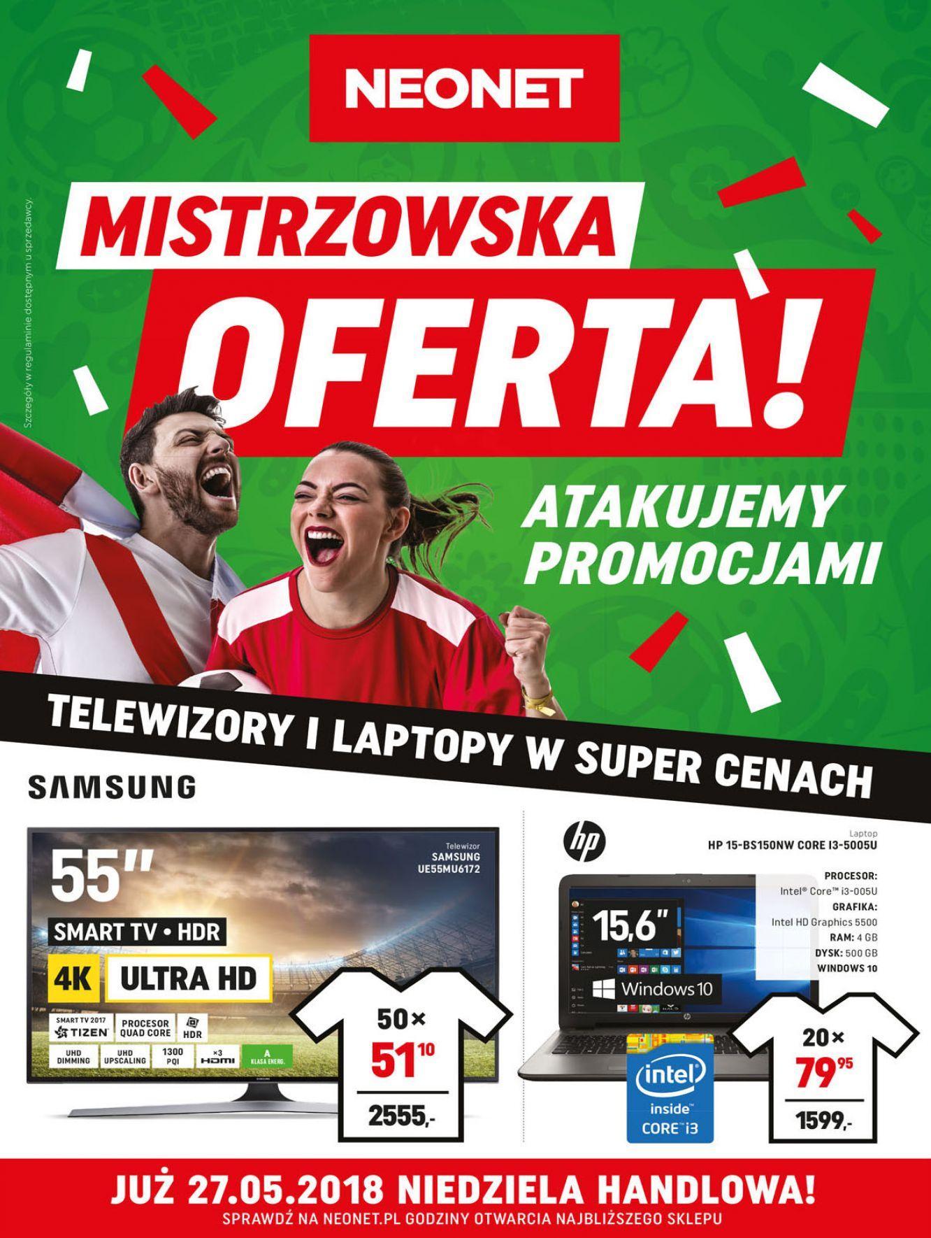 Gazetka promocyjna Neonet do 30/05/2018 str.0