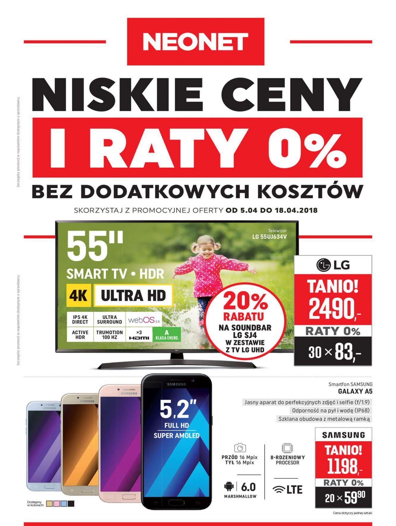 Gazetka promocyjna Neonet do 18/04/2018 str.0