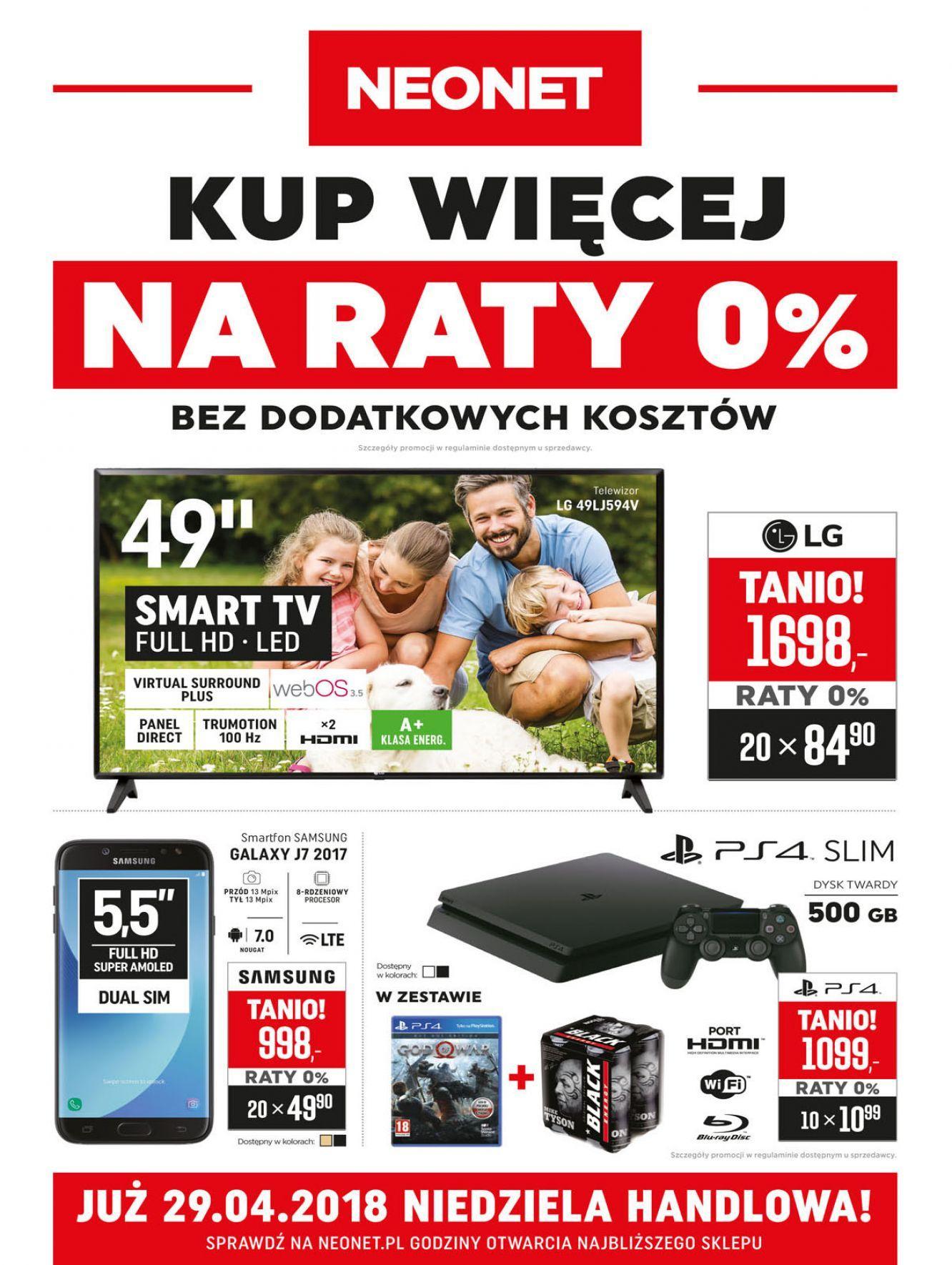 Gazetka promocyjna Neonet do 02/05/2018 str.0