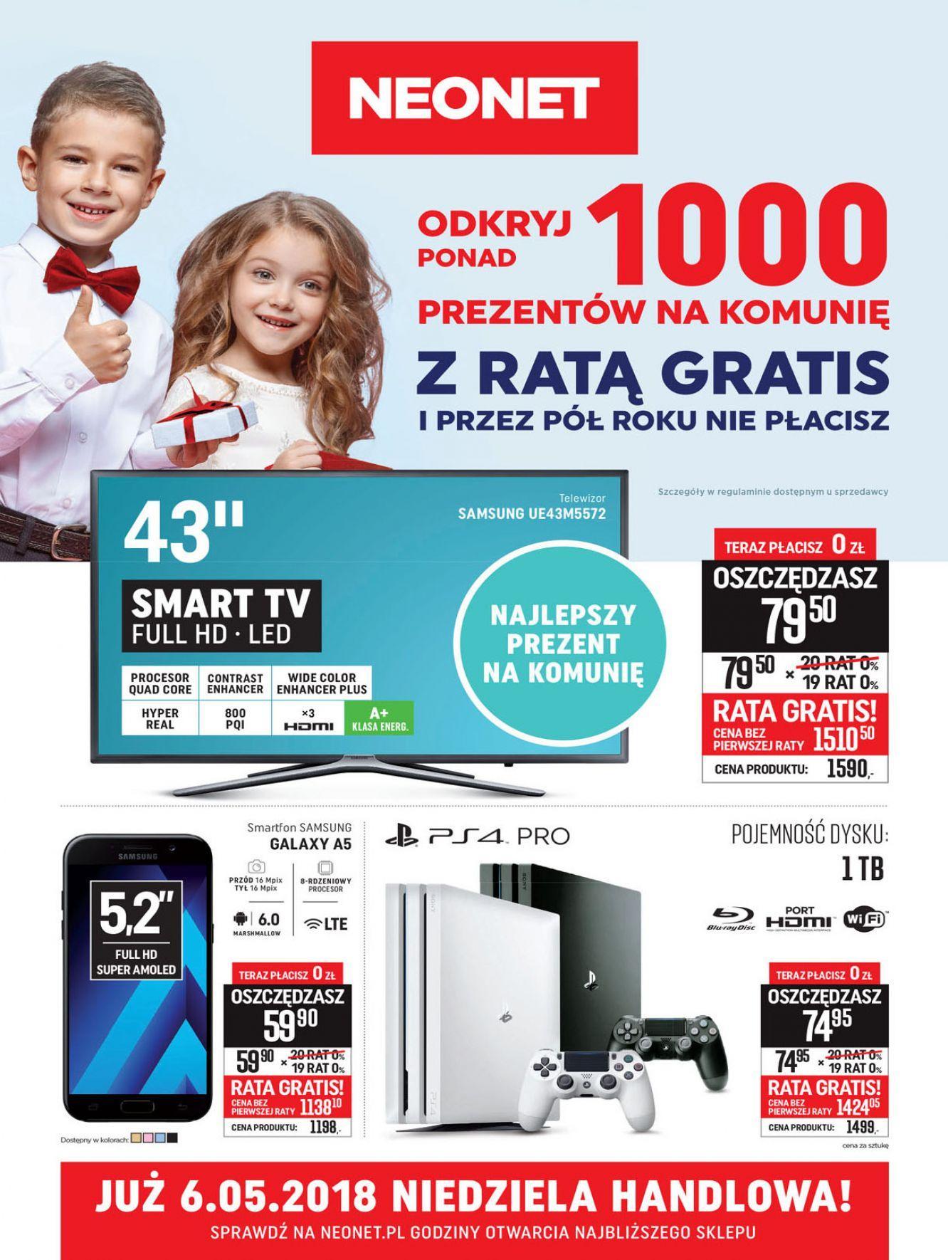 Gazetka promocyjna Neonet do 16/05/2018 str.0