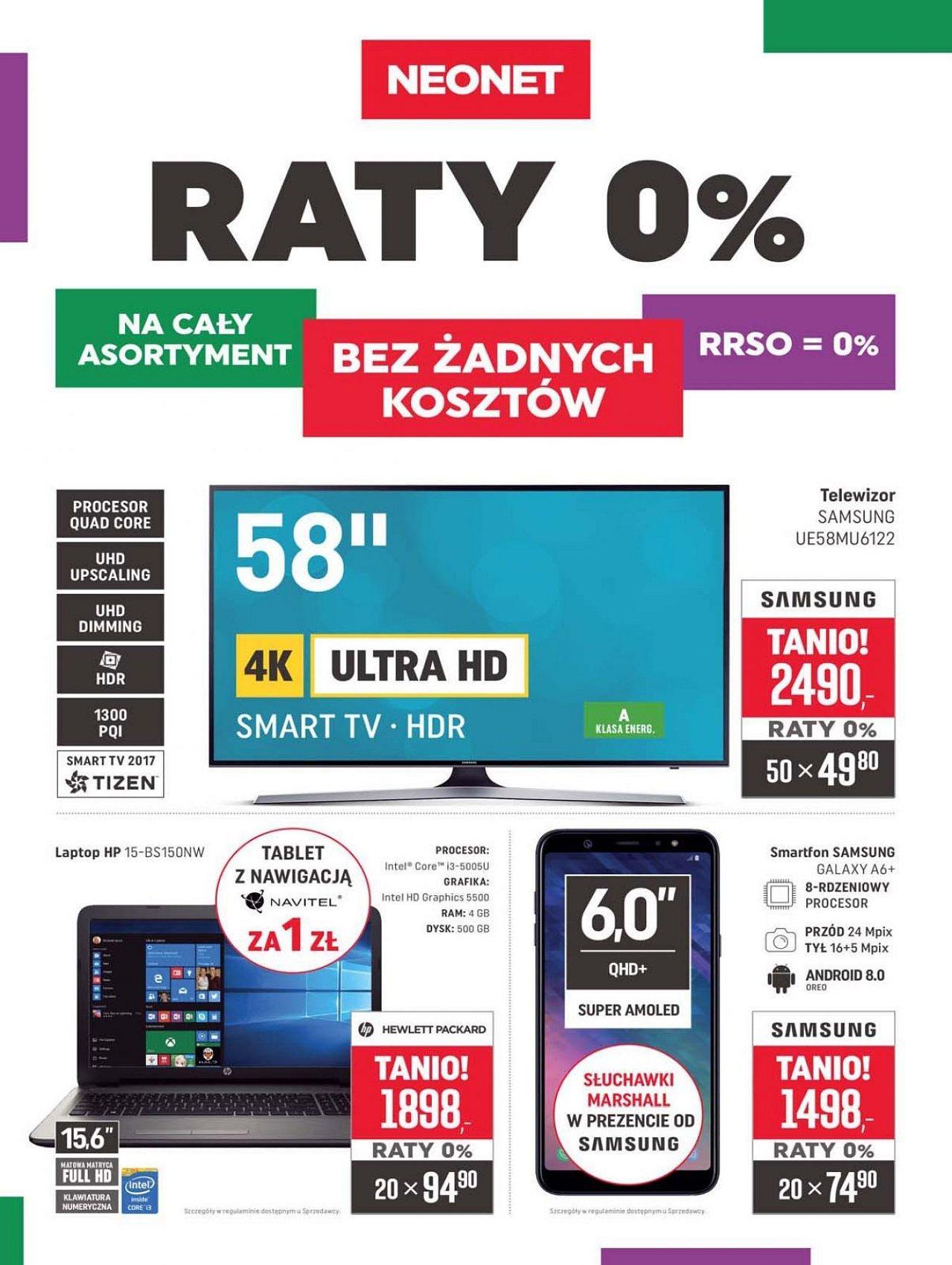 Gazetka promocyjna Neonet do 19/09/2018 str.0