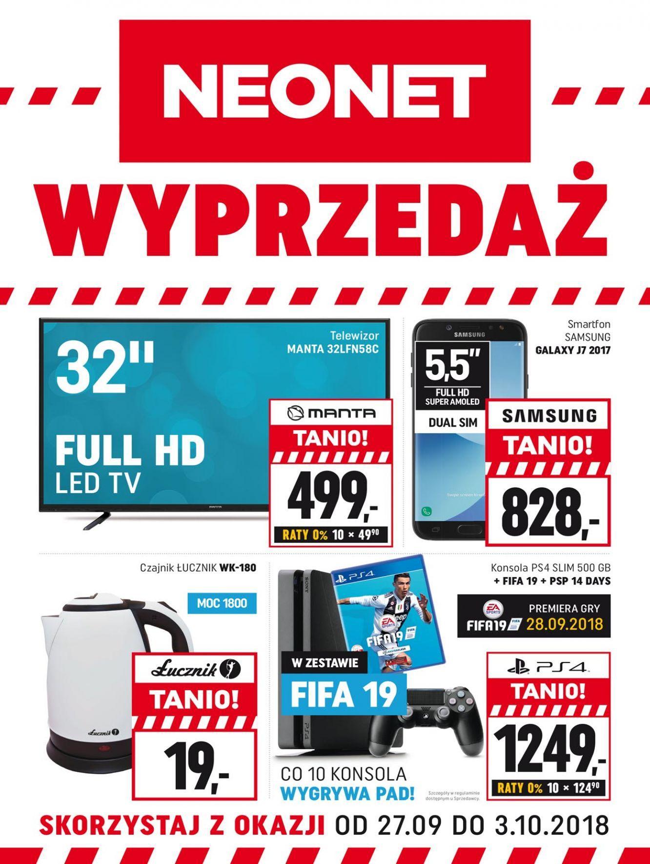 Gazetka promocyjna Neonet do 03/10/2018 str.0