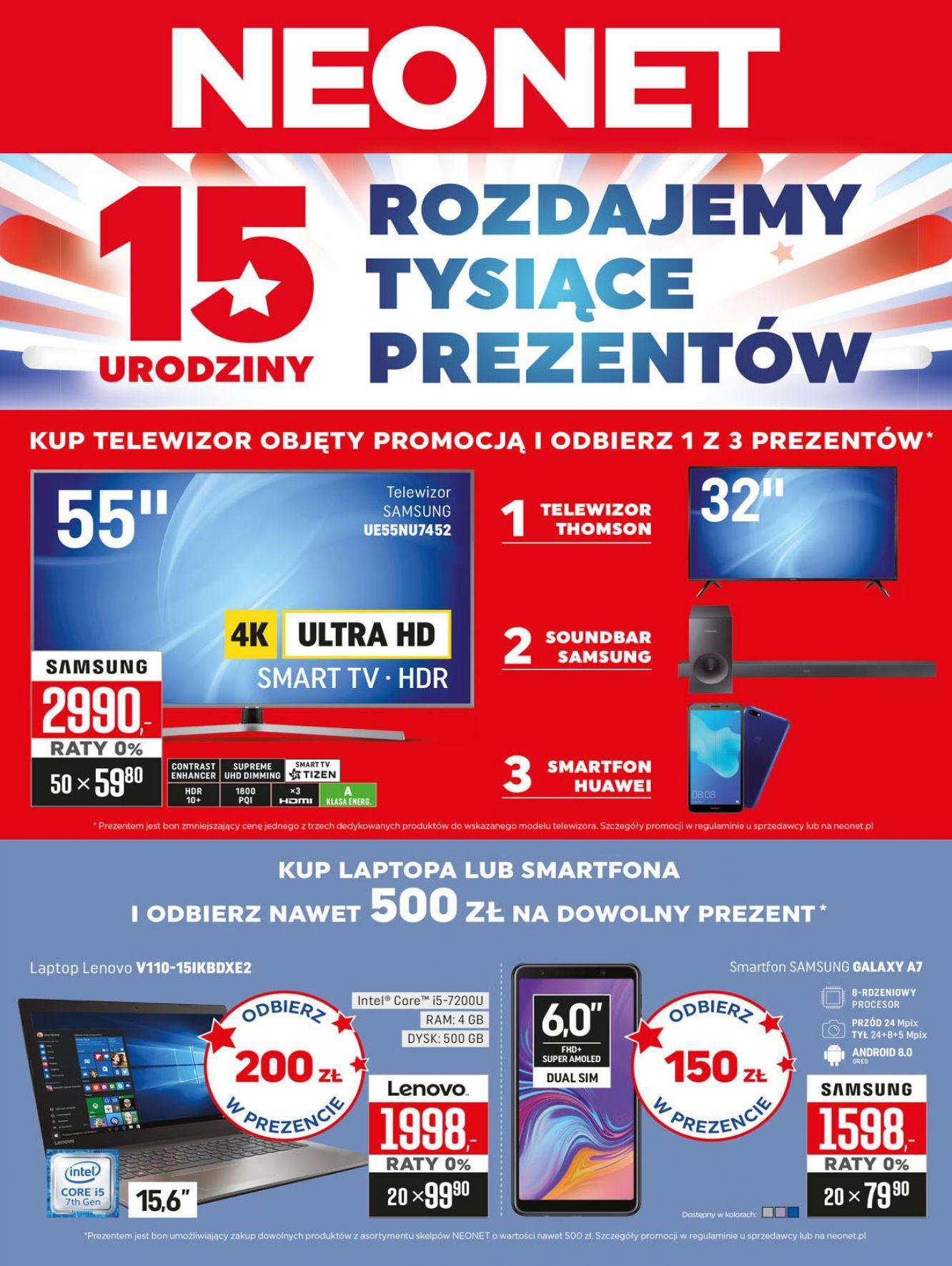 Gazetka promocyjna Neonet do 21/11/2018 str.1