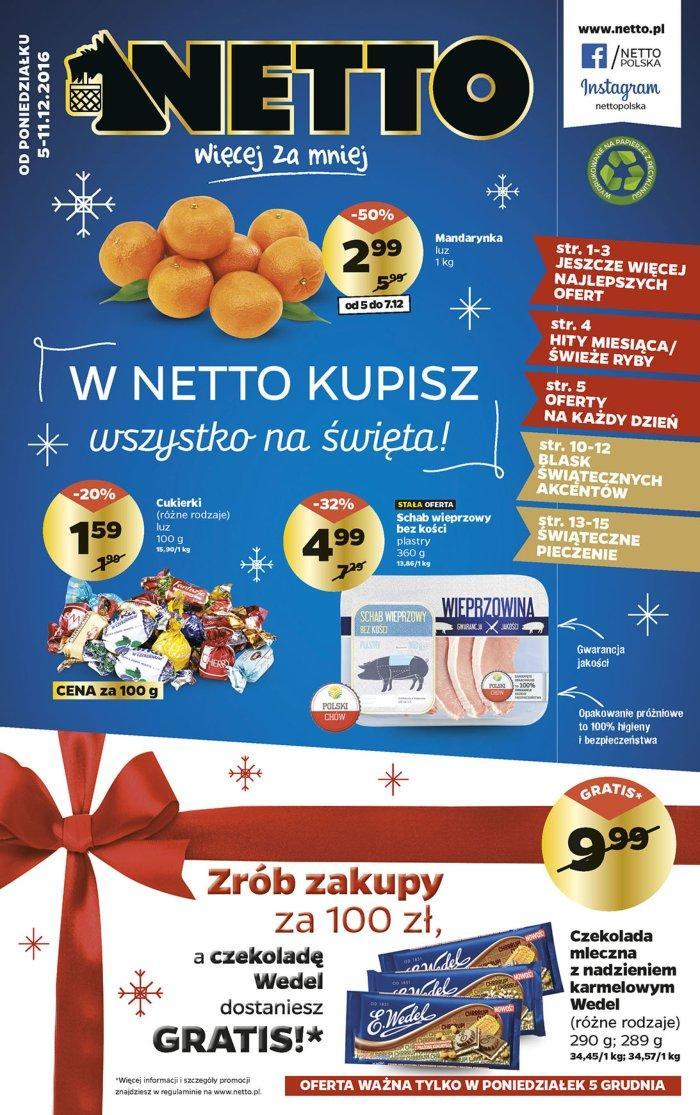 Gazetka promocyjna Netto do 11/12/2016 str.0