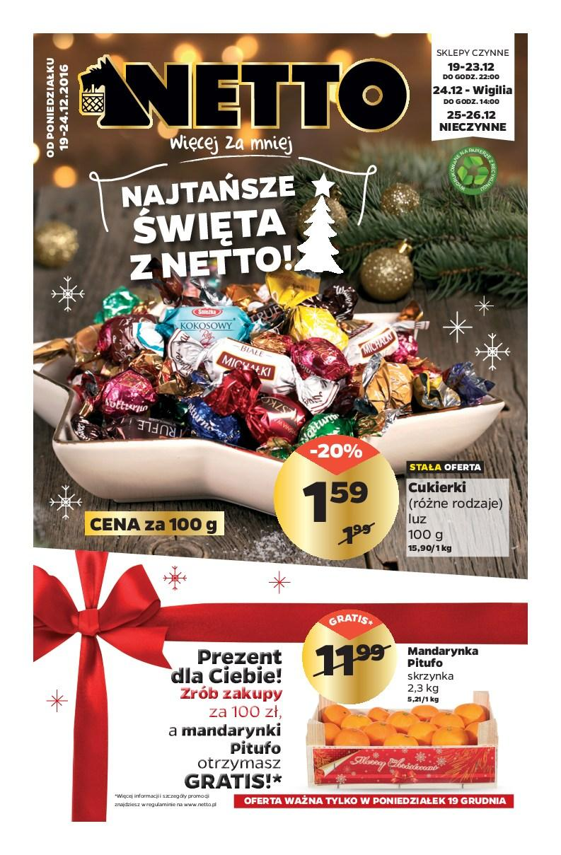 Gazetka promocyjna Netto do 24/12/2016 str.0
