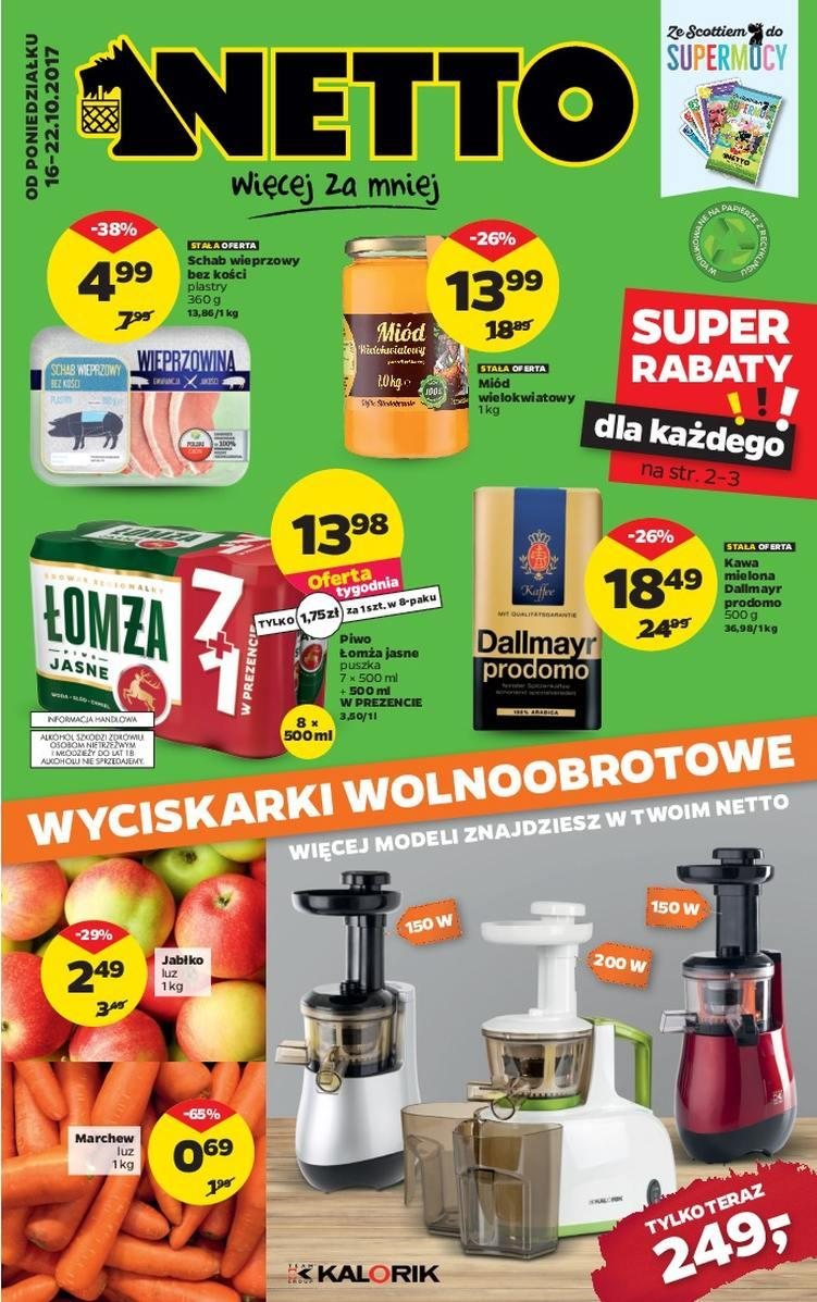 Gazetka promocyjna Netto do 22/10/2017 str.0