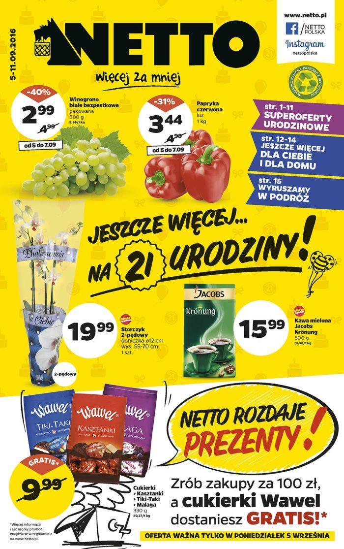Gazetka promocyjna Netto do 11/09/2016 str.0