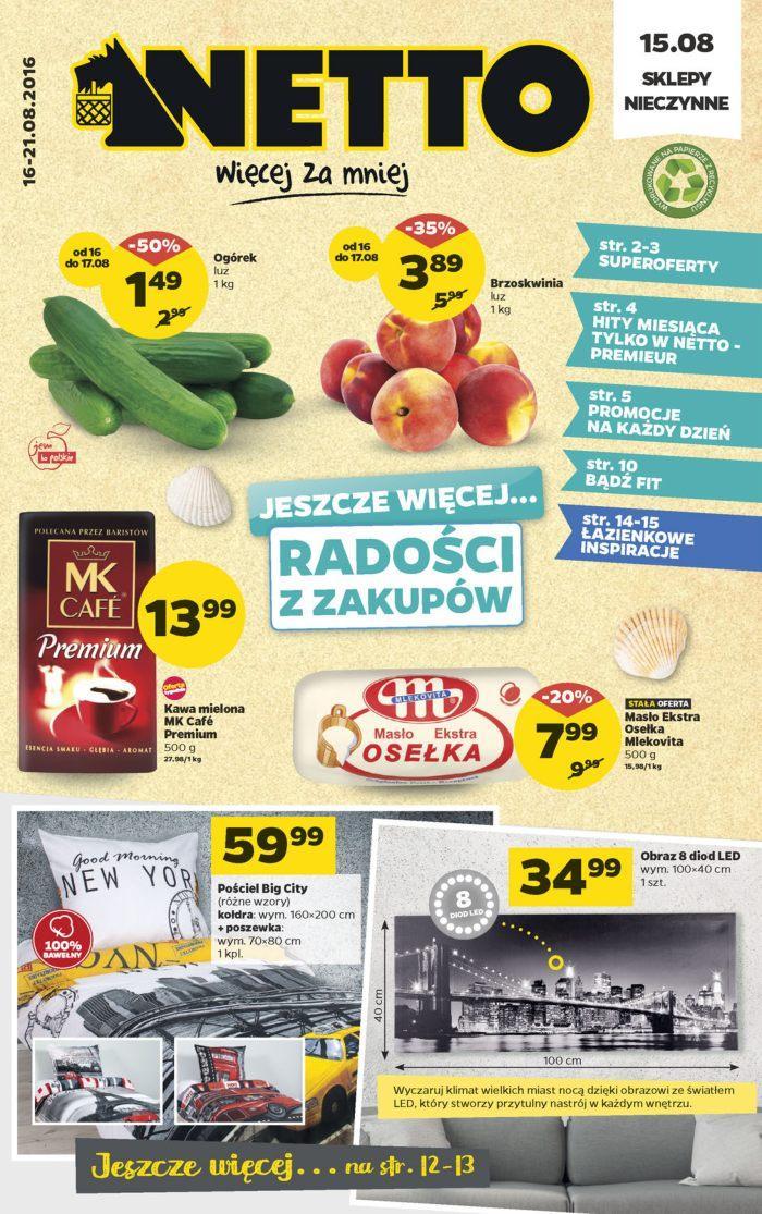 Gazetka promocyjna Netto do 21/08/2016 str.0