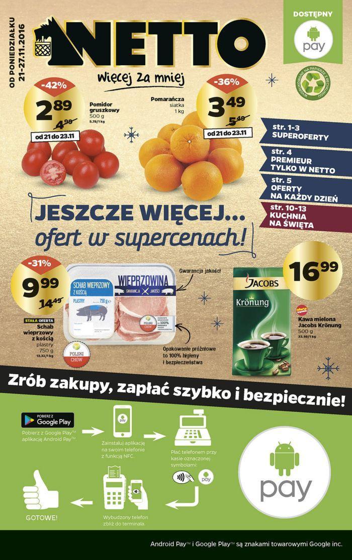 Gazetka promocyjna Netto do 27/11/2016 str.0