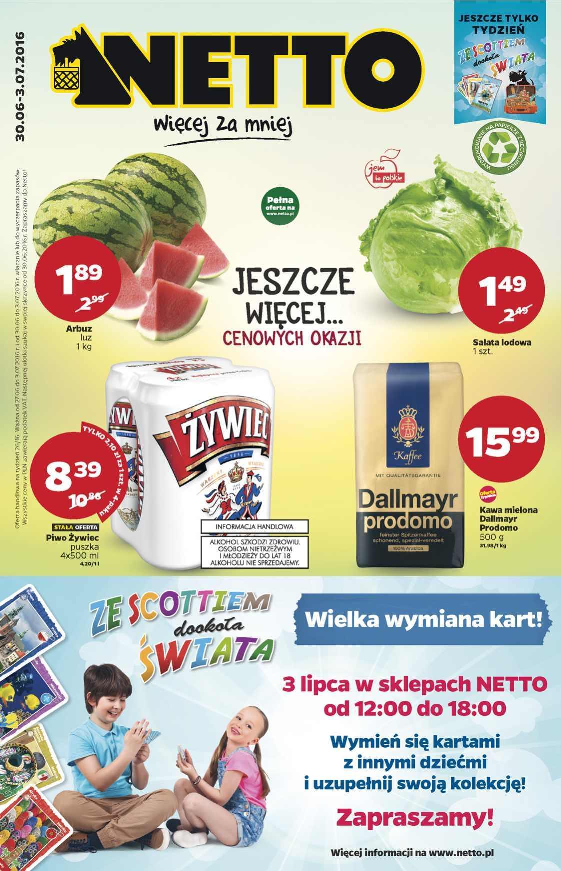 Gazetka promocyjna Netto do 03/07/2016 str.0