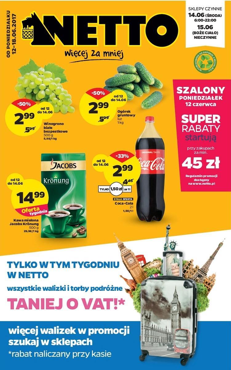 Gazetka promocyjna Netto do 18/06/2017 str.0