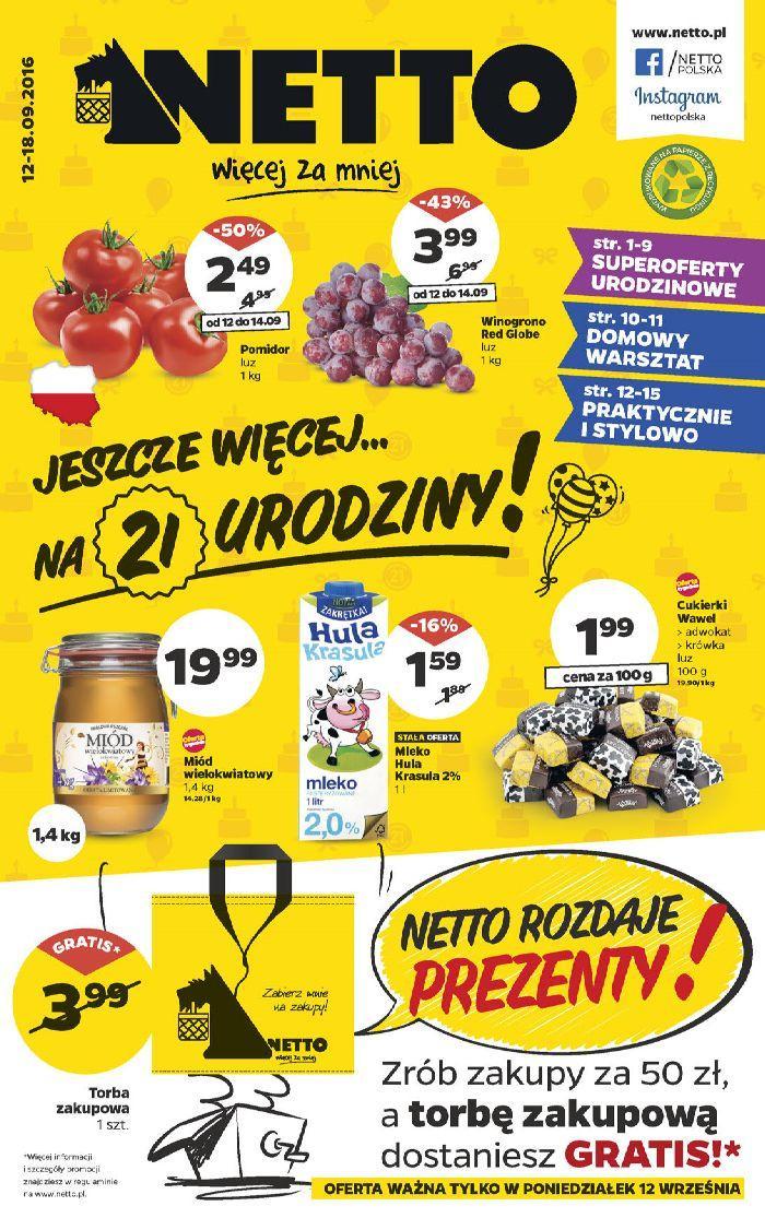 Gazetka promocyjna Netto do 18/09/2016 str.0