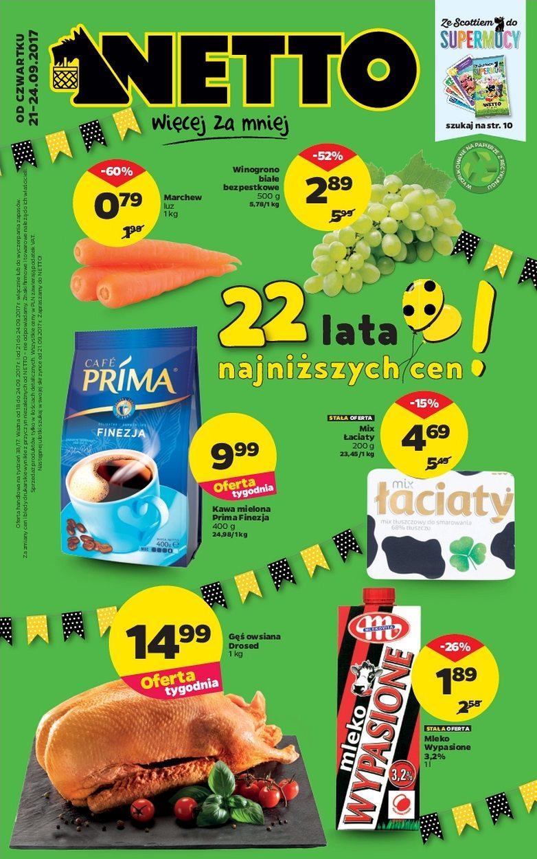 Gazetka promocyjna Netto do 24/09/2017 str.0