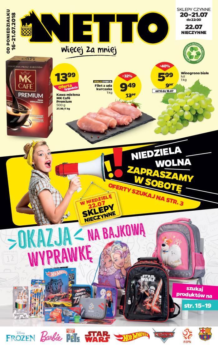 Gazetka promocyjna Netto do 21/07/2018 str.1