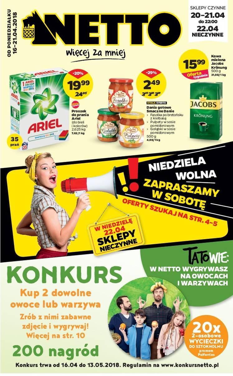 Gazetka promocyjna Netto do 21/04/2018 str.0