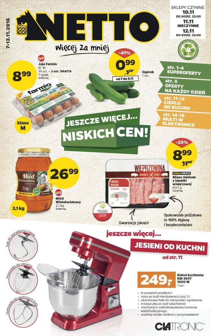 Gazetka promocyjna Netto do 13/11/2016 str.0