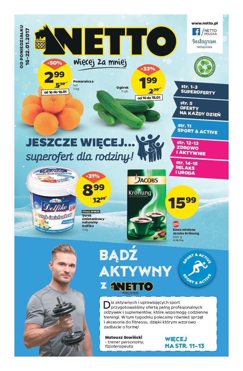 Gazetka promocyjna Netto do 22/01/2017 str.0