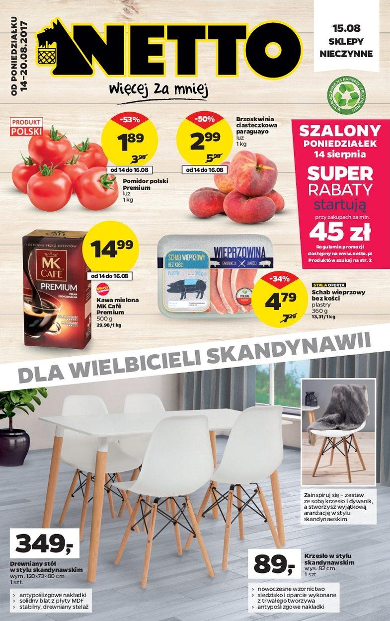 Gazetka promocyjna Netto do 20/08/2017 str.0