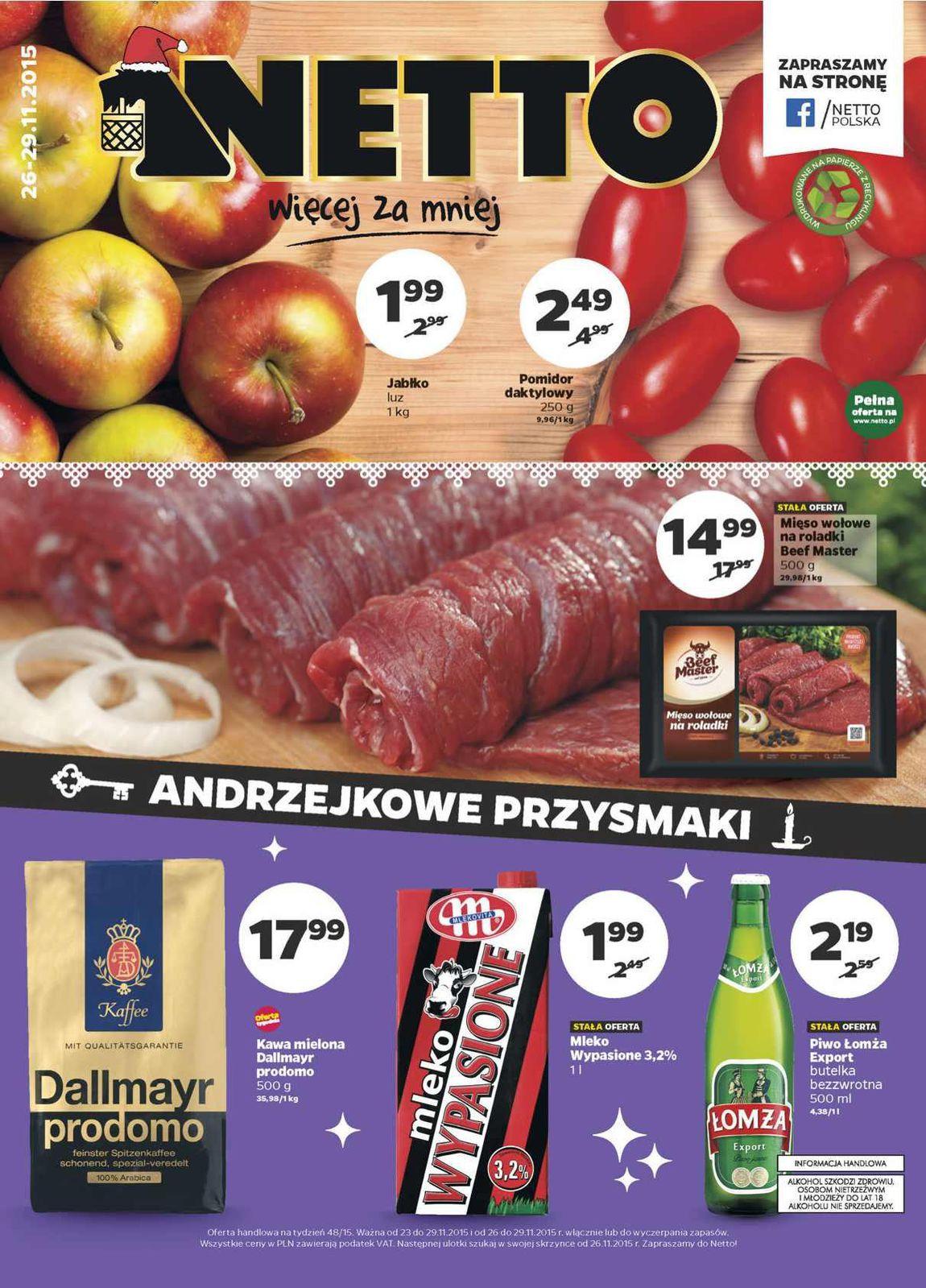 Gazetka promocyjna Netto do 29/11/2015 str.0