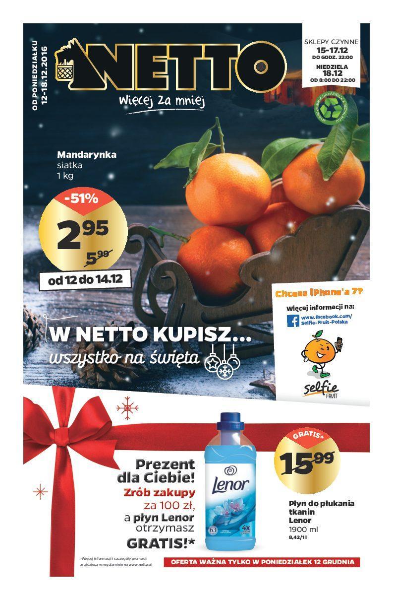 Gazetka promocyjna Netto do 18/12/2016 str.0
