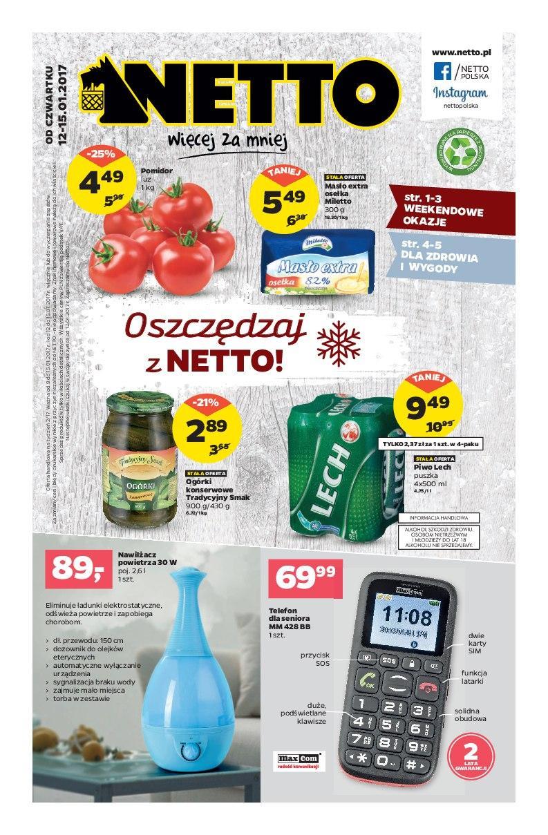 Gazetka promocyjna Netto do 15/01/2017 str.0