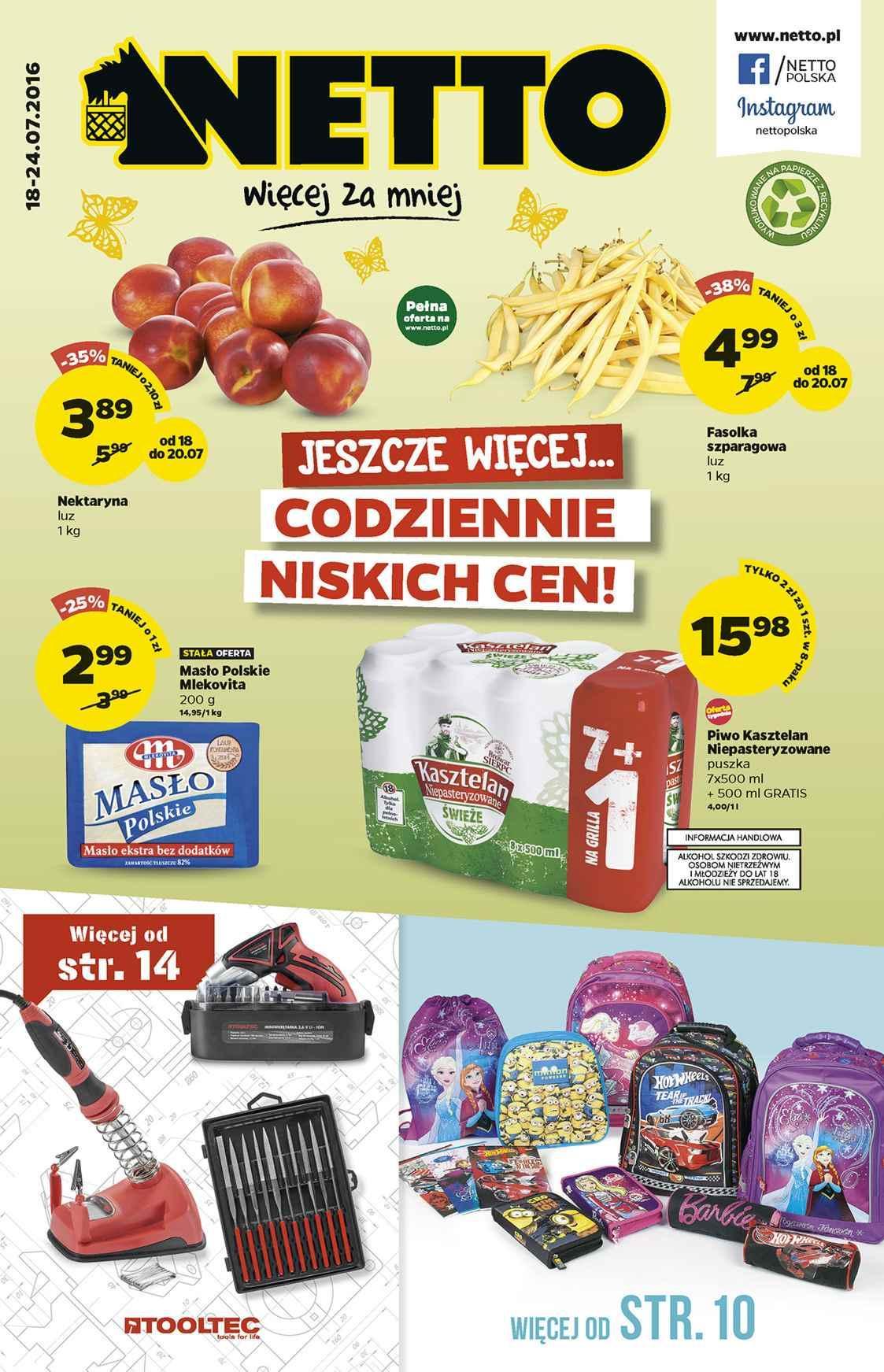 Gazetka promocyjna Netto do 24/07/2016 str.0