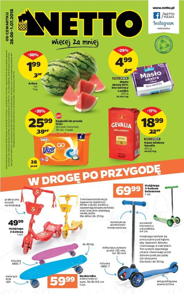 Gazetka promocyjna Netto do 01/07/2018 str.1
