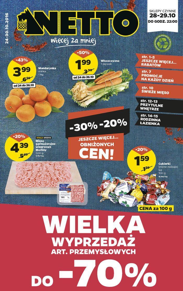 Gazetka promocyjna Netto do 30/10/2016 str.0