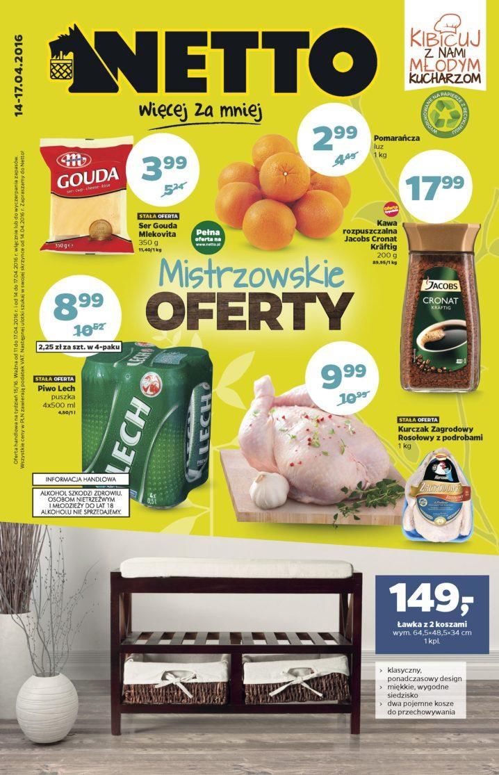 Gazetka promocyjna Netto do 17/04/2016 str.0