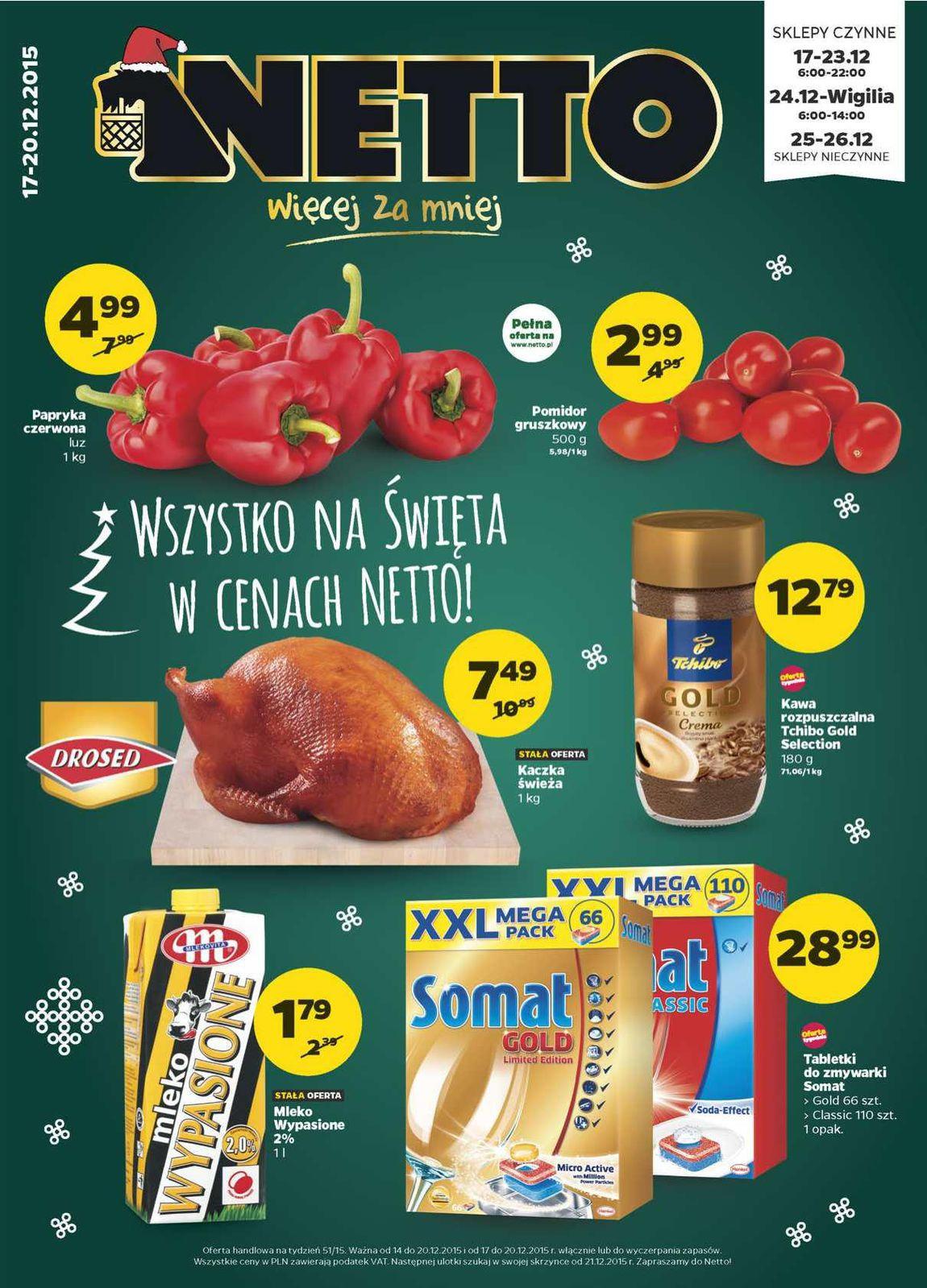 Gazetka promocyjna Netto do 20/12/2015 str.0
