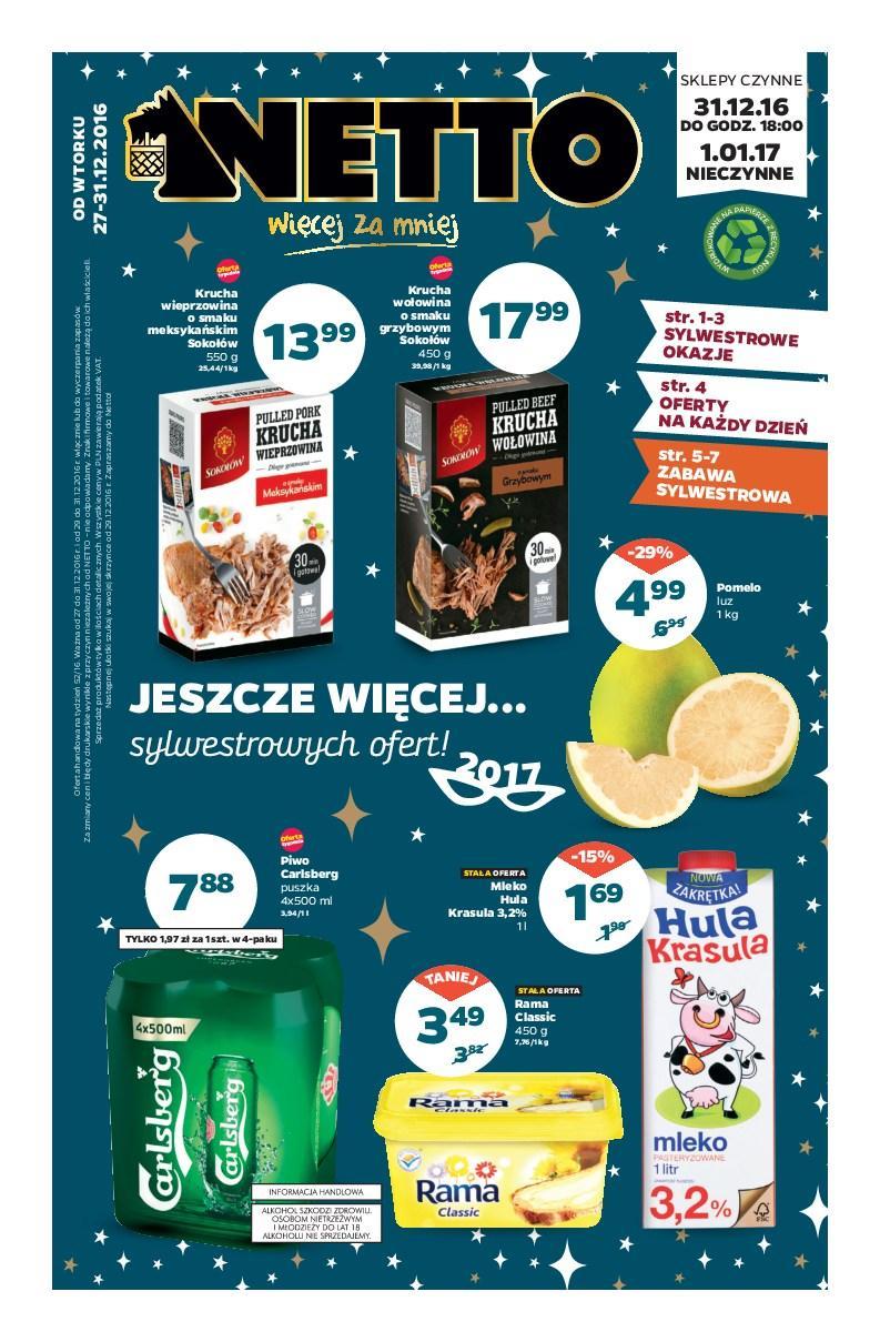 Gazetka promocyjna Netto do 31/12/2016 str.0