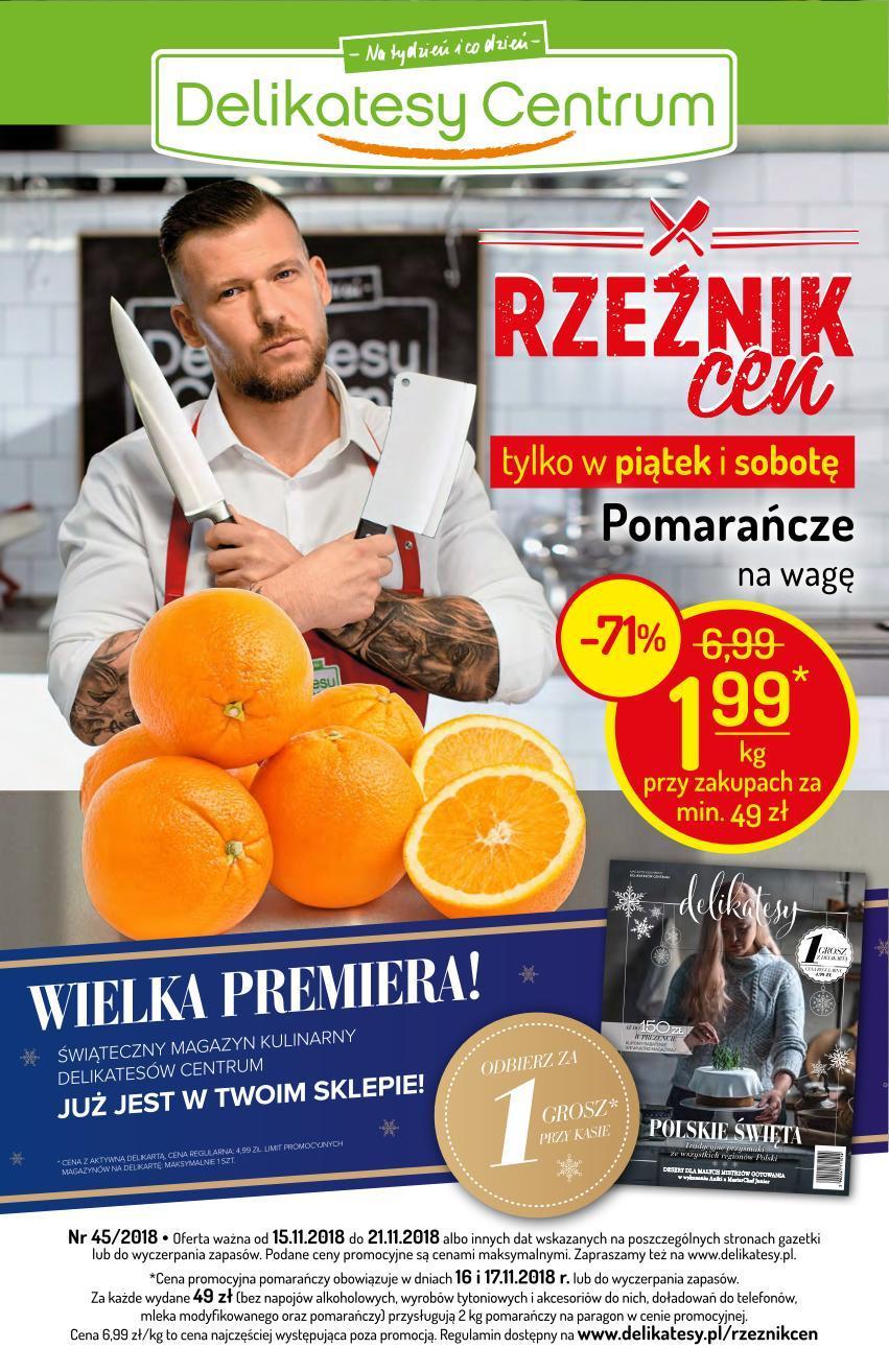 Gazetka promocyjna Delikatesy Centrum do 29/11/2018 str.0