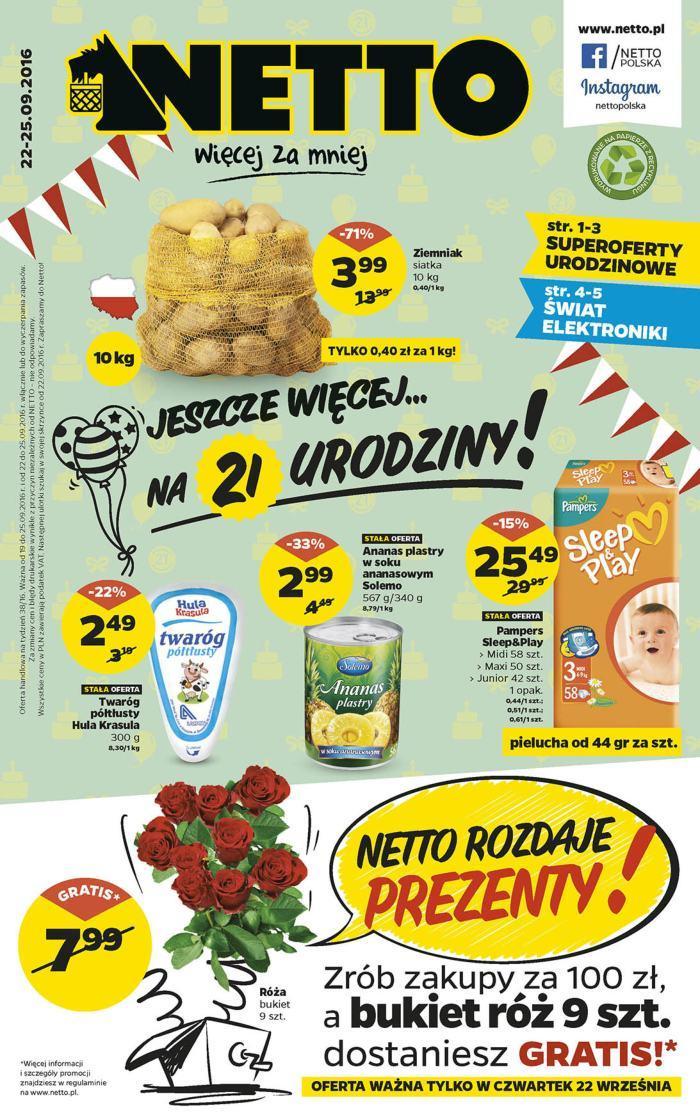 Gazetka promocyjna Netto do 25/09/2016 str.0